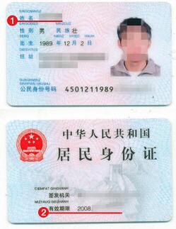 几内亚签证身份证模板